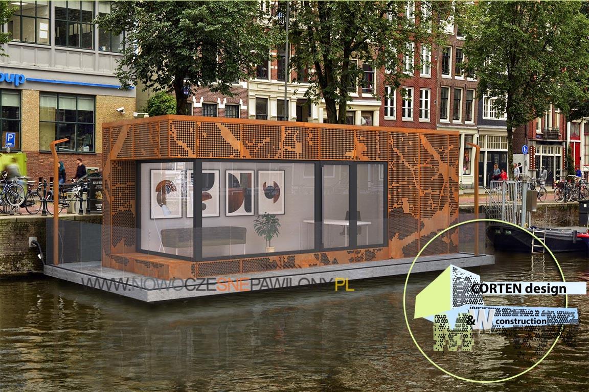 Pawilon Houseboat – Corten Design